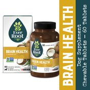 EverRoot Natural Brain Health With Coconut Organic Dog Supplement Chewable Tablets