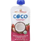 Happy Squeeze Coconut Milk, Strawberry