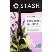 Stash Tea Black Tea, Breakfast in Paris, Tea Bags