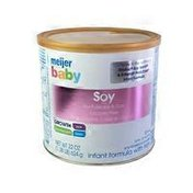 Meijer Baby Infant Formula With Iron Soy-based Powder