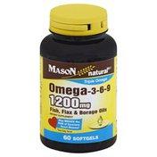 Mason Natural Omega-3-6-9, 200 mg, Softgels