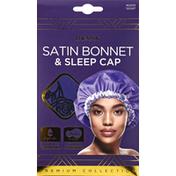 Donna Satin Bonnet & Sleep Cap, Assorted