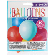 Unique Balloons, Assorted, 12 Inches