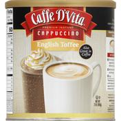Caffe D'Vita Cappuccino, English Toffee, Premium Instant
