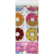 Creative Converting Table Cover, Plastic, Donut Time AOP