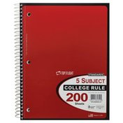 Top Flight Notebook, 5 Subject, College Rule, 200 Sheets