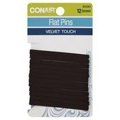 Conair Pins, Flat, Brown, Style Essentials, Card