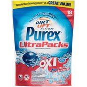 Purex Liquid Detergents UltraPacks plus Oxi and Zout Stain Removers Laundry Detergent