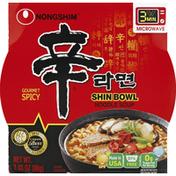 Nongshim Soup, Noodle, Shin Bowl, Gourmet Spicy