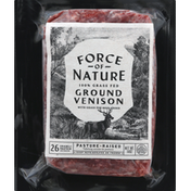 Force Of Nature Venison, Ground, 100% Grass Fed