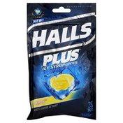 Halls Cough Suppressant/Oral Anesthetic Drops, Icy Lemon