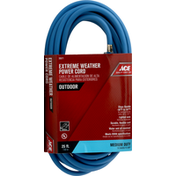 Ace Power Cord, Extreme Weather, Medium Duty, Outdoor, 25 Feet