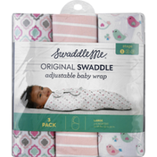 Swaddle Me Swaddle, Original, Large, Stage 1, 3-6 Months (14-18 lbs), 3 Pack