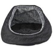 """Harmony 17"""" x 16"""" Dark-Gray Hooded Dome Cat Bed"""