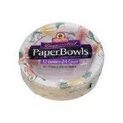 ShopRite Flower Decorated Paper Bowls