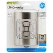GE Night Light, LED, Brushed Nickel