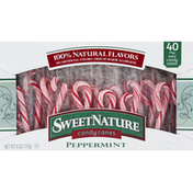 SweetNature Candy Canes, Peppermint, Mini