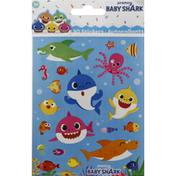 Unique Stickers, Baby Shark, 4 Sheets