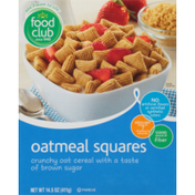 Food Club Oatmeal Squares Crunchy Oat Cereal With A Taste Of Brown Sugar