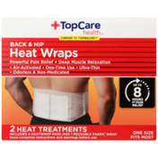 TopCare Back & Hip Powerful Pain Relief + Deep Muscle Relaxation Heat Wraps