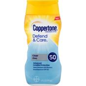 Coppertone Sunscreen Lotion Clear Zinc SPF 50