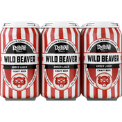 Deluxe Brewing Beer, Amber Lager Craft, Wild Beaver, 6 Pack