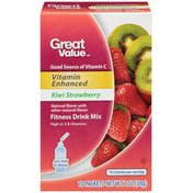 Great Value Vitamin Enhanced Kiwi Strawberry Fitness Drink Mix