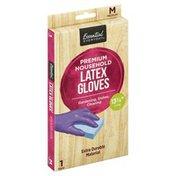Essential Everyday Latex Gloves, Premium Household, Medium