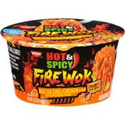 Nissin Hot & Spicy Fire Wok Molten Chili Chicken Flavor Stir Fry Asian Noodles in Sauce