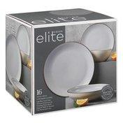 Gibson Elite Dinnerware Set, Terracota, Contempo Classic, Light Blue