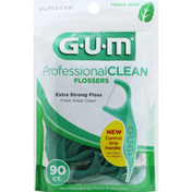 GUM Flossers, Professional Clean, Fresh Mint