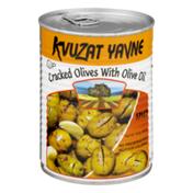 Kzuzat Yavne Cracked Olives with Olive Oil Spicy