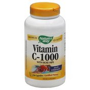 Nature's Way Vitamin C-1000, with Rosehips, Capsules