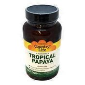 Country Life Tropical Papaya Digestive Enzyme Support Dietary Supplement Chewable Wafers