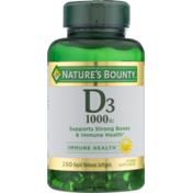 Nature's Bounty Vitamin D3, 25 mcg (1000 IU), Rapid Release Softgels
