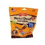 Nylabone Nutri Dent Complete Medium Dental Chews Delicious Filet Mignon Flavor