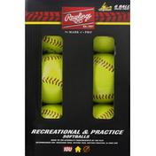 Rawlings Softballs, Recreational & Practice, Value Pack