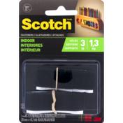 3M Scotch Indoor Fasteners Black 3/4 in x 18 in, 1 set/pk