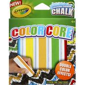 Crayola Sidewalk Chalk, Washable, Color Core, 4+