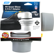Camco RV Sewer Elbow & 4-in-1 Adapter, Sanitation