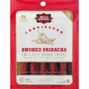 Dietz & Watson Sausage Snacks, Gluten Free, Smoked Sriracha, Swiss Style, Landjaeger