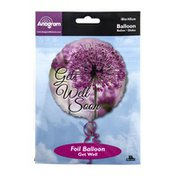 """Anagram Foil Balloon 18"""" Get Well Soon Floral Photo"""
