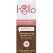 hello Fluoride Toothpaste, Soothing Mint, Sensitivity Relief
