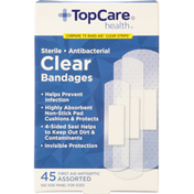 TopCare Bandages, Clear, Assorted