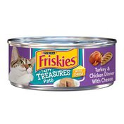Friskies Tasty Treasures Pate Turkey & Chicken Dinner With Cheese Canned Cat Food