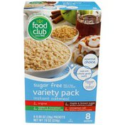 Food Club Fruit & Cream Variety Instant Oatmeal Pack