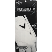 Callaway Tour Authentic Golf Glove - Regular - XL - White - Left Hand