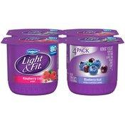 Dannon Raspberry Goji/Blueberry Acai 6 Oz Light & Fit Nonfat Yogurt