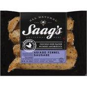 Saag's All Natural Chicken Asiago Fennel Sausage