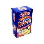 Key Food Quality Instant Oatmeal Variety Pack Fruit 'n Cream 10pk